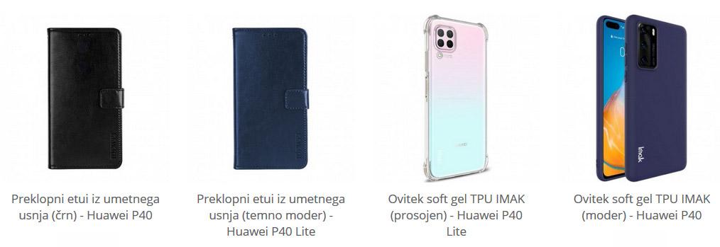 Etuiji in soft gel ovitki za Huawei P40